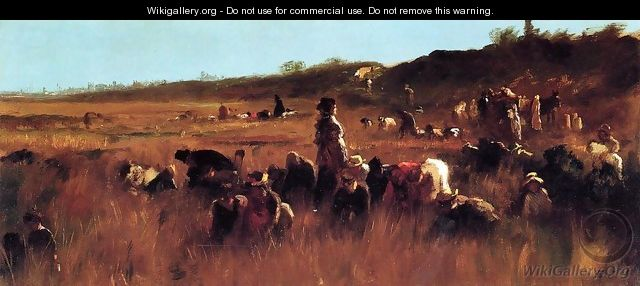 Cranberry Pickers, Nantucket - Eastman Johnson