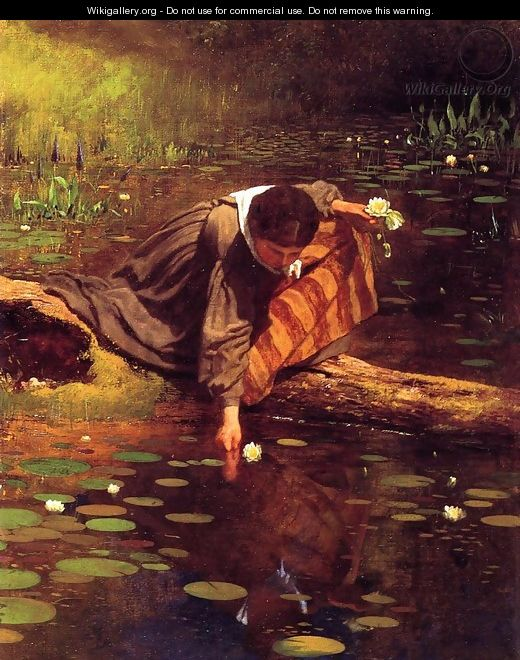 Gathering Lilies - Eastman Johnson