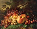 Still Life with Peaches and Grapes - George Henry Hall