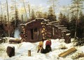 Bringing Home Game: Winter Shanty at Ragged Lake - Arthur Fitzwilliam Tait