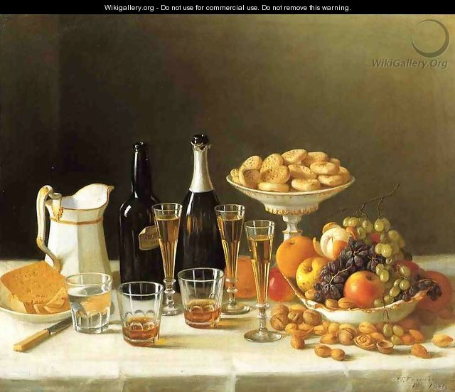 Wine, Cheese and Fruit - John Defett Francis
