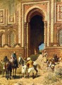Indian Horsemen at the Gateway of Alah-ou-din, Old Delhi - Edwin Lord Weeks