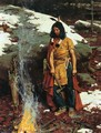 Indian by the Campfire - William Gilbert Gaul