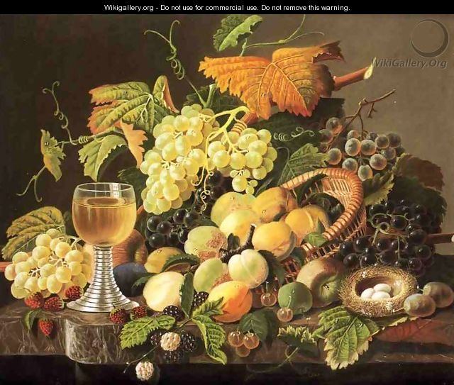 Still Life with Fruit, Bird