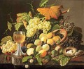Still Life with Fruit, Bird's Nest and Wine Glass - Severin Roesen