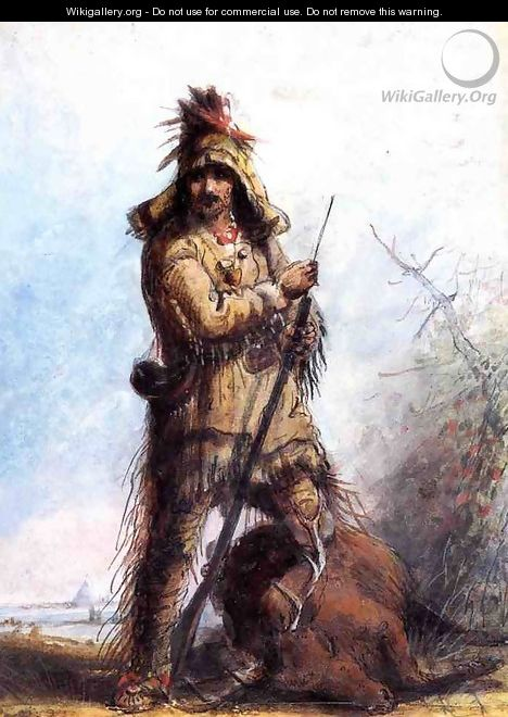 Louis - Rocky Mountain Trapper - Alfred Jacob Miller