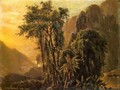 A Glimpse of the Caribbean sea from the Jamaica Mountains - John Frederick Kensett