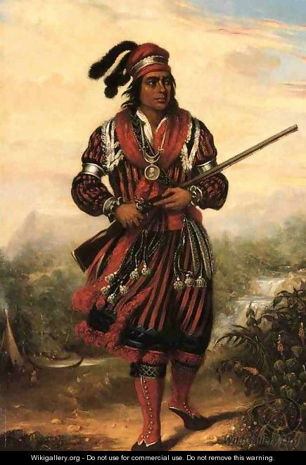 Portrait of a Seminole Chief, North America - Stuart Westmacott
