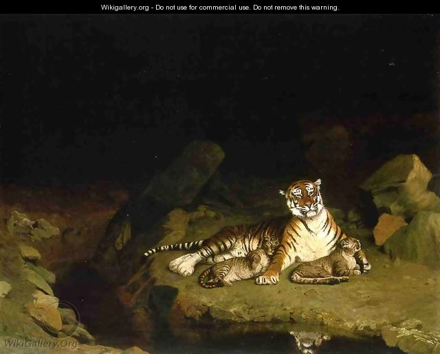 Tigress and Her Cubs - Jean-Léon Gérôme