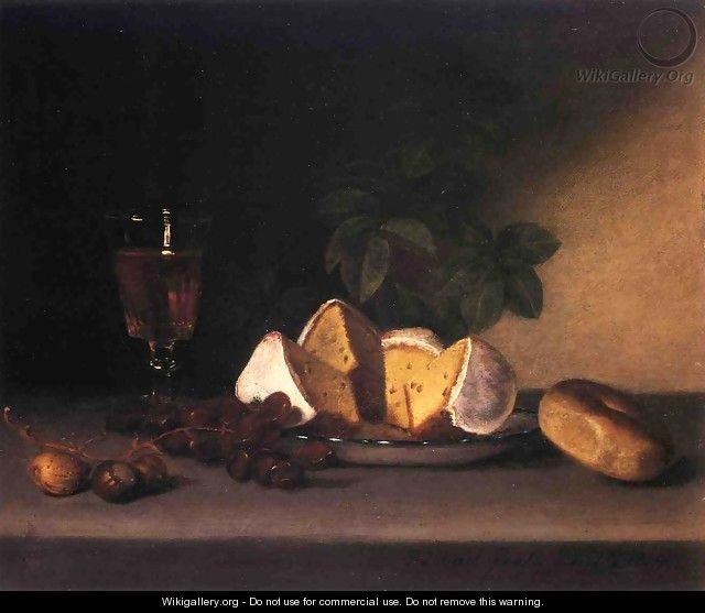 Still Life: Wine, Cakes and Nuts - Raphaelle Peale