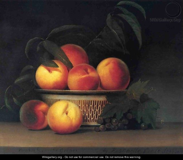Peaches and Unripe Grapes - Raphaelle Peale