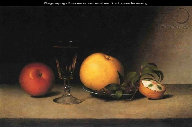 Still Life with Apples, Sherry and Tea Cakke - Raphaelle Peale