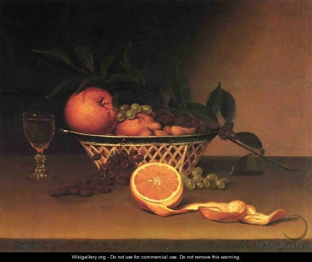 Still Life with Oranges - Raphaelle Peale