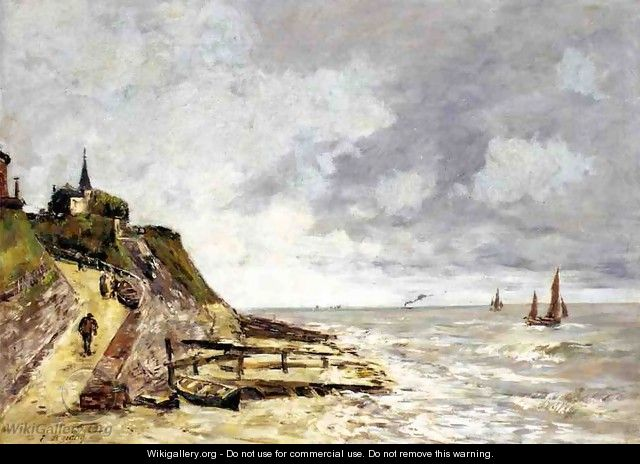 The Shore and the Sea, Villerville - Eugène Boudin