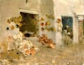 Pottery Shop at Tunis - Willard Leroy Metcalf
