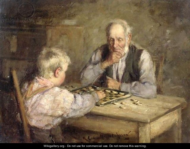 The Draughts Players - Robert Gemmell Hutchison