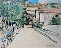 Street in Villefranche - George Leslie Hunter