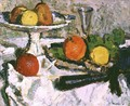 Still Life of Fruit on a White Tablecloth - George Leslie Hunter
