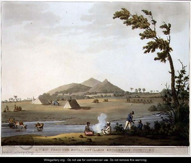 A View from the Royal Artillery Encampment Conditore - (after) Hunter, Lieutenant James