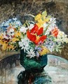Flowers in a Green Vase - Mary Ethel Hunter
