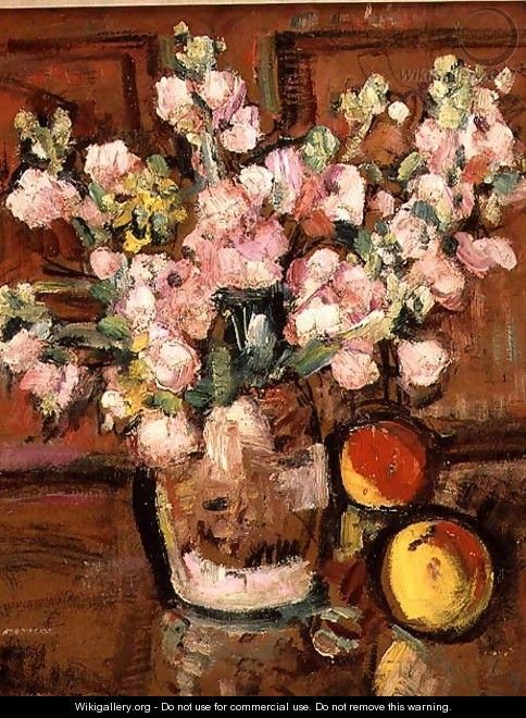 A Still Life of Fruit and Flowers 2 - George Leslie Hunter