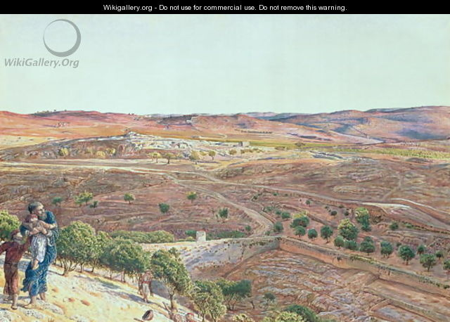 Plain of Rephaim from Zion - William Holman Hunt