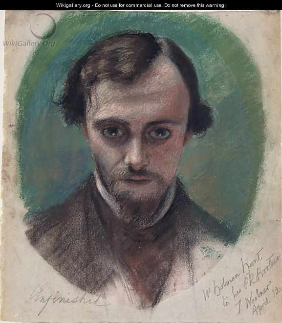 Portrait of Dante Gabriel Rossetti 1828-82 - William Holman Hunt