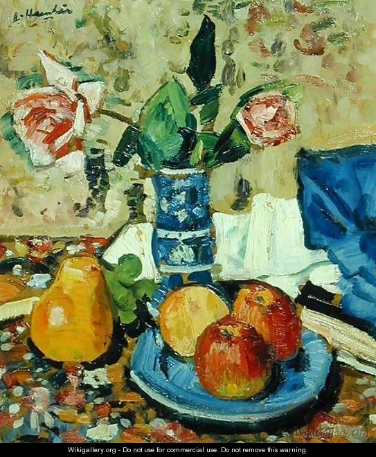 Apples Pears and Roses - George Leslie Hunter