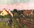 A Fife Village probably Ceres - George Leslie Hunter