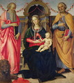 Virgin and Child between St Jerome and St Peter - Andrea Ingegnio