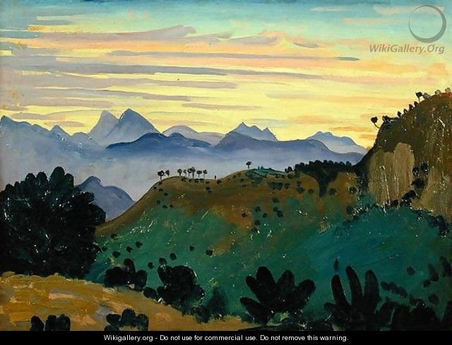 Sunset Sierra da Ronda - James Dickson Innes