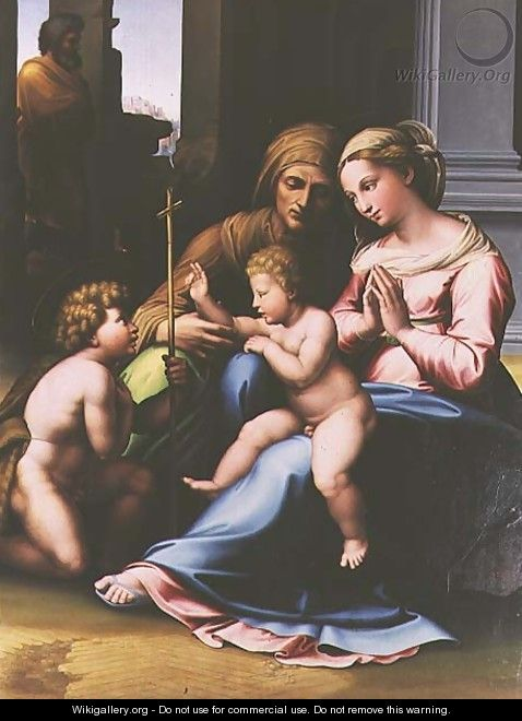 Madonna and Child with St Anne St John the Baptist and St Joseph - da Imola (Francucci)