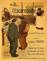 Reproduction of a poster advertising LEscarmouche a weekly illustrated journal - Henri-Gabriel Ibels