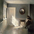 Girl Reading a Letter in an Interior - Peder Vilhelm Ilsted