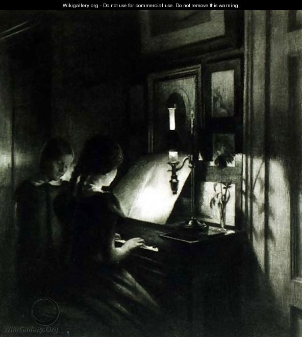 The girls at the piano - Peder Vilhelm Ilsted