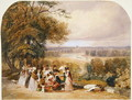 A Picnic on Richmond Hill - Joseph Murray Ince