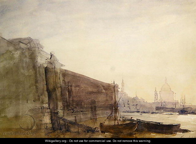 The Thames Early Morning Toward St Pauls - John William Inchbold