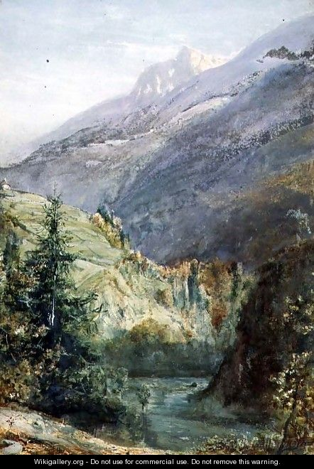 On the Road of Sepey Switzerland - John William Inchbold