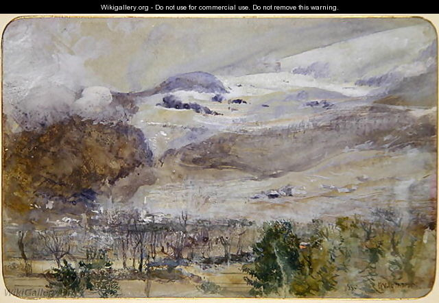 Swiss Valley Landscape - John William Inchbold