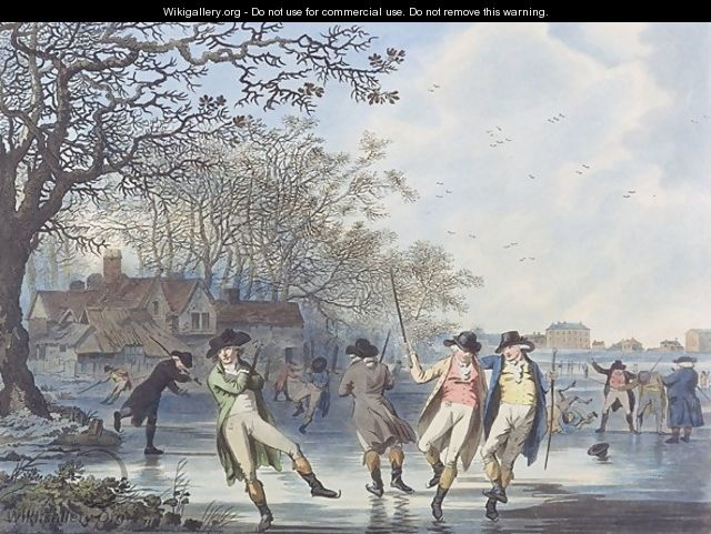 Winter Amusement A View in Hyde Park from the Moated House - Julius Caesar Ibbetson