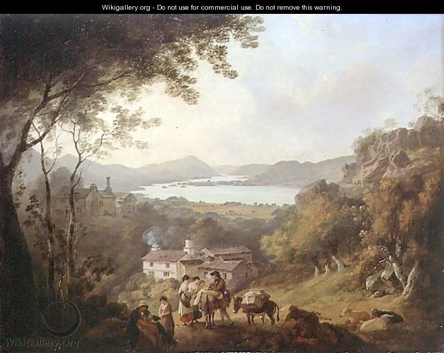 Windermere from Troutbeck - Julius Caesar Ibbetson