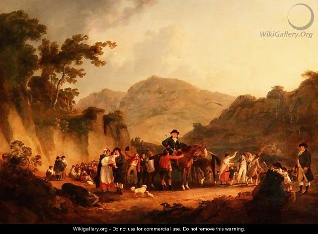 The Opening of a Mine Eskdale - Julius Caesar Ibbetson