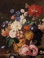 Flowers in a Terracotta Vase 2 - Jan Van Huysum