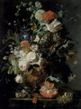 Roses Flowers Carnations - Jan Van Huysum