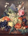 A Basket of Fruit - Jan Van Huysum