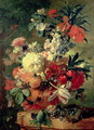 Flowers in a Vase - Jan Van Huysum