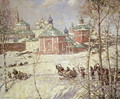The Kremlin Moscow under snow - Frederick William Jackson