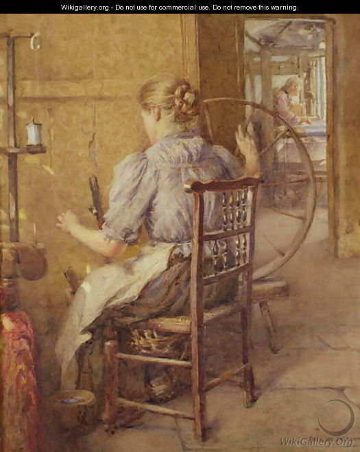 The Spinning Wheel - Frederick William Jackson