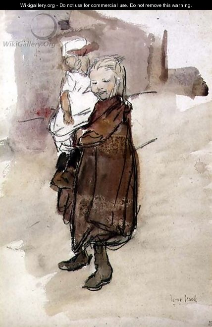 Girl and Child - Isaac Israels