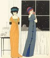Two empire line evening dresses - Paul Iribe